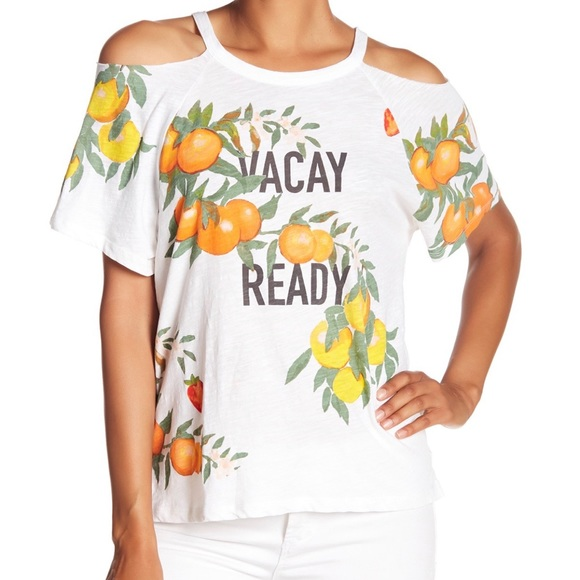 🍋 LUCKY BRAND VACAY READY Cold Shoulder Tee